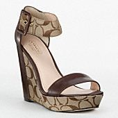 Obsessed with Coach shoes. Cute Shoes, Me Too Shoes, Wedge Sandals, Wedge Shoes, Shoes Heels, Fashion Shoes, Fashion Accessories, Coach Purses, Coach Handbags