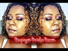 Maquiagem Metálica em Marrom