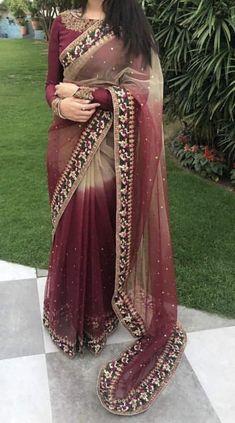 Trendy Sarees, Stylish Sarees, Fancy Sarees, Party Wear Sarees, Stylish Dresses, Wedding Dresses For Girls, Dresses For Teens, Sarees For Girls, Modern Saree