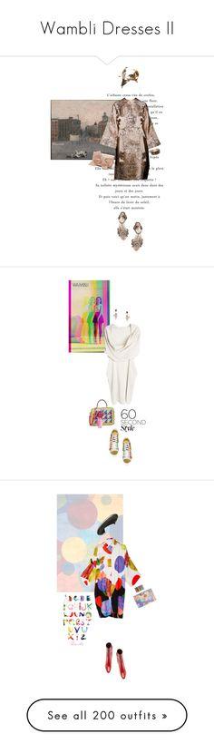 """Wambli Dresses II"" by wambliwakan ❤ liked on Polyvore featuring Federica Rettore, Malìparmi, Oscar de la Renta, Take Off Your Clothes, Geoffrey B. Small, Dolce&Gabbana, tshirtdresses, 60secondstyle, Mara Hoffman and Philip Treacy"