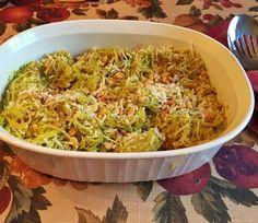 6. Pesto Parmesan Spaghetti Squash