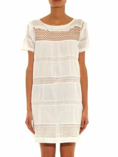 e4add93fb8e ISABEL-MARANT-ETOILE-SZ-36-2-CALEEN-White-Voile-Ruffle-Eyelet-Mini-Dress- Tunic