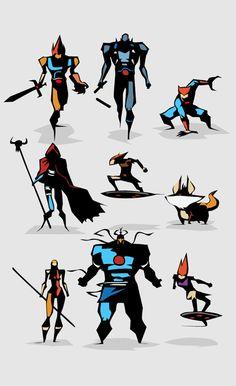Minimal Heroes by Bunka | Abduzeedo Design Inspiration