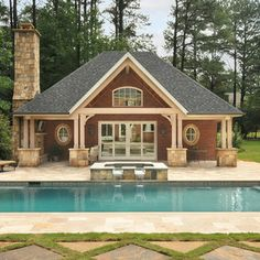 Pool And Pool House Ideas rustic pool house photos Pool House Plans Design Ideas Pictures Remodel And Decor
