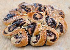 Pan brioche farcito con nutella, a forma di sole o di fiore, facile, congelabile, per merenda, feste di compleanno, per bambini, dolce con nutella, ricetta