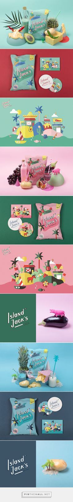 Island Jack´s Kettle Chips Packaging by Alessia Sistori, Lilly Friedeberg, and Marc Oortman | Fivestar Branding Agency – Design and Branding Agency & Curated Inspiration Gallery #packaging #packagingdesign #packages #packagedesign #design #designinspiration