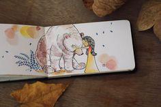 MB-23 Watercolor Journal, Watercolor Illustration, Watercolor Art, Sketchbook Drawings, Art Drawings, Sketches, Creative Bookmarks, Watercolor Beginner, Arte Disney