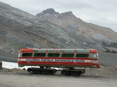 Now THIS is one interesting bus!  It must be quite a ride to get over ice fields.