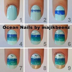 Even with step-by-step my nails would look like blue blobs instead of a beach.