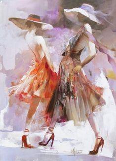 """catwalk"" ~ acrylic on canvas ~ by 'willem haenraets'  ❀ ~  ◊  photo via 'exto'"