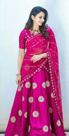 Rakul Preet Singh Photos - Actress photos, images, gallery, stills and clips - Bass Rockers.in, Rakul Preet Singh provides Cine Actress HQ Photos. Half Saree Designs, Lehenga Designs, Blouse Designs, Half Saree Lehenga, Lehnga Dress, Pink Lehenga, Fashion Designer, Indian Designer Wear, Indian Dresses