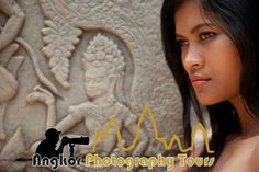 Angkor Photography Tours, Siem Reap Picture: Beautiful Cambodian girl with Apsara at Bayon temple - Check out TripAdvisor members' 63,731 candid photos and videos of Angkor Photography Tours