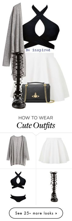 """Cute Casual Skirt Outfit"" by cloudybooks on Polyvore featuring Topshop, Vivienne Westwood and Raye"