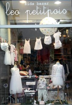 leo petitpois, shop window, vitrine, kids concept store