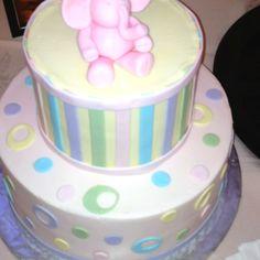 Elephant baby shower cake!