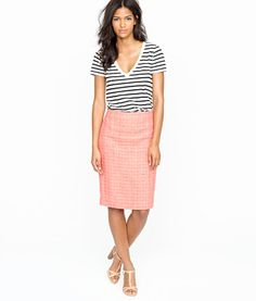 Fall Must Haves: 12 Terrific Tweed Pieces Pink Tweed Pencil Skirt – The Frisky
