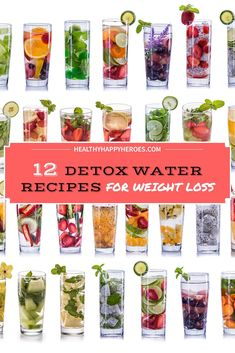 Great detox water recipes to lose weight, fat burning, for clear skin and for body flush and fat burning. Detox water can help you get a flat belly and for bloating. Detox water can even be used for constipation and for energy improvement. What Is Detox Water, Detox Water To Lose Weight, Mint Detox Water, Weight Loss Water, Drinks For Bloating, Bloating Detox, Infused Water Recipes, Fruit Infused Water, Detox Plan