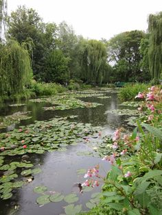 Giverny, Monet's house and garden Monet Garden Giverny, Manor Garden, Lotus Pond, Garden Landscaping, Garden Ponds, Lily Pond, Garden Structures, Water Plants, Water Lilies