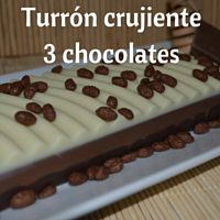 Turrón tres chocolates