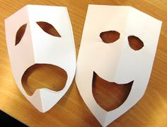 comedy and tragedy for mardi gras masks