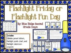 Flashlight Fridays and Fun Days! I remember staying up late at night under my blanket reading with a flashlight. Flashlight Fridays or Flashlight Fun Days are a great way to reward students or make learning fun. This especially goes great with a camping themed classroom!