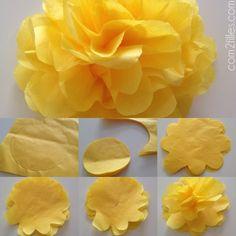 fleur en papier de soie - DIY