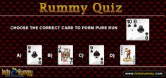 Rummy Quiz at #IndoRummy !!!  Choose The Correct #Card To Form Pure Run ??  Register & Play #Rummy at www.indorummy.com