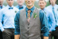#Woodland / #bohemian inspired Groom in #whimsical field in Nova Scotia! #love #wedding #Groom #Tie #vest #flowers #groomsmen