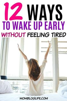 It is very possible to wake up early and not feel tired. I share 12 tips to wake up earlier without feeling tired. You'll be waking up early in no time! Ways To Wake Up, How To Wake Up Early, How To Get Tired, Getting Up Early, Getting Out Of Bed, Healthy Habits, Healthy Tips, Waking Up Tired, Feeling Sleepy