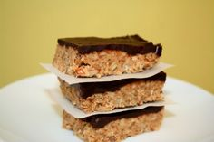 Chocolate Nut Energy Bars - thinking about adapting this to meet my craving for Special K bars.  Add peanut butter - take out Agave syrup.  Has potential. :)