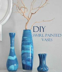 Beautiful DIY Swirl Painted Vases