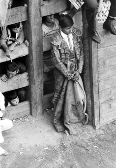 """The Bullfighter...photo by Rafael Sanz Lobato....Rafael Sanz Lobato ( Seville , 1932) is a Spanish photographer, National Photography Award in 2011 , """"for his expertise to show the transformation of the countryside"""