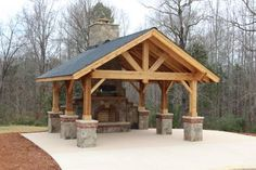 timberframe outdoor living area *Love this! Would work for us on a smaller scale!*