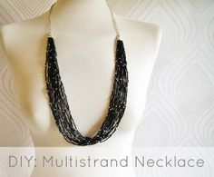 Miss P: DIY: Bugle Bead Multistrand Necklace - Used this as a guide to make my own, turned out great!