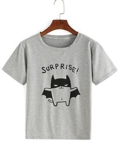 Shop Cartoon Print Grey T-shirt online. SheIn offers Cartoon Print Grey T-shirt & more to fit your fashionable needs.