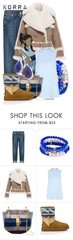 """Korra"" by amarie104 ❤ liked on Polyvore featuring 7 For All Mankind, Sequin, Burberry, Chloé, UGG Australia and Ippolita"
