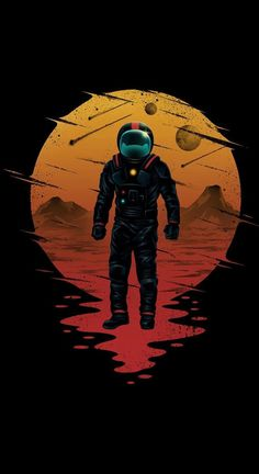 Space Opera T-Shirt Designed by An astronaut lost in space. Tumblr Wallpaper, Galaxy Wallpaper, Astronaut Wallpaper, Wallpaper Animes, Space Illustration, Moon Art, Fantasy Art, Art Drawings, Concept Art