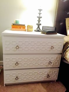 My Ikea malm dresser hack with Harper pattern O'verlays