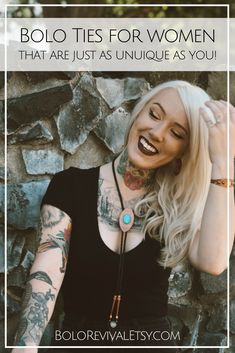 Handcrafted in the beautiful state of Oregon, the designer behind Bolo Revival creates modern Southwestern Bolo Ties for women that are just as unique as you!