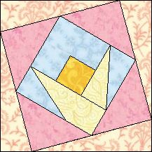 Block of Day for April 19, 2016 - Daffodil-foundation/paper piecing-The pattern may be downloaded until: Saturday, April 30, 2016.