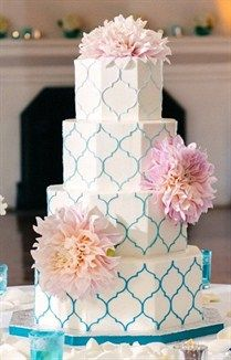 Amazing Wedding Cakes / patterned ombre wedding cake {simply sweet cakery}