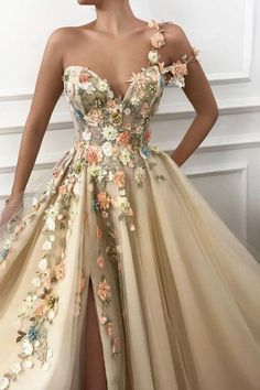 One Shoulder Floral Long Formal Prom Dresses Evening Fancy Dress – Laurafas. - One Shoulder Floral Long Formal Prom Dresses Evening Fancy Dress – Laurafashionshop A Line Prom Dresses, Prom Party Dresses, Flower Dresses, Maxi Dresses, Dress Prom, Fashion Dresses, Wedding Dresses, Summer Dresses, Fancy Dresses For Weddings