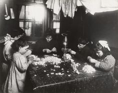 Lewis W. Hine, Making Flowers in a Slum Home, 1908. MoMA Collection http://www.moma.org/collection/works/48261