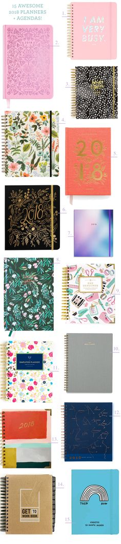Fifteen Awesome 2017-2018 Planners and Agendas