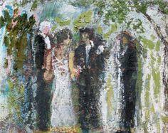Title: Joshia's Wedding  Artist: Mark Jeffrey  Original oil painting - perfect wedding gift #1stdibs
