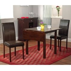 Simple Living Bettega Drop Leaf 3-piece Dining Set | Overstock.com Shopping - The Best Deals on Dining Sets