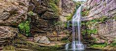 Foradada waterfall in Catalonia