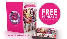 Ever After High printable party invitation..can easily rework as thank you, favor tag, etc