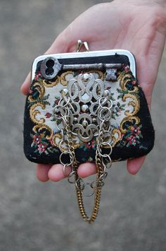 steampunk card creations | Vintage Victorian Steampunk Couture Coin Purse with Vintage Found ...