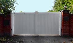 Custom 'Accoya' Chatsworth Driveway Gates Painted White in Ingatestone